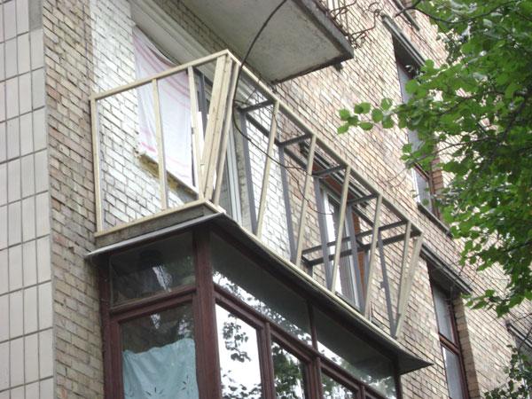 Вынос балкона вид внутри. - балконный блок - каталог статей .